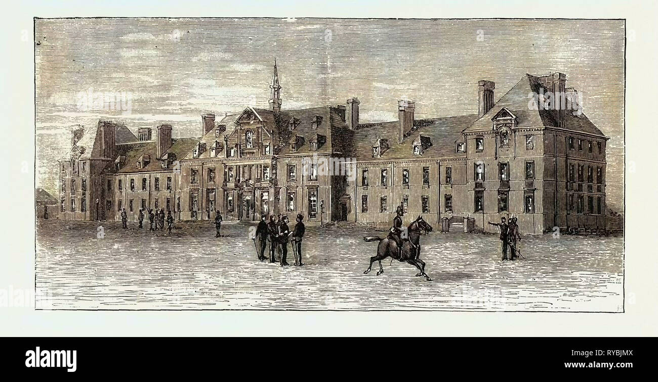 The New Marlborough Barracks, Dublin, Where Prince George of Wales Was Staying at the Time When He is Considered to Have Contracted the Typhoid Fever - Stock Image