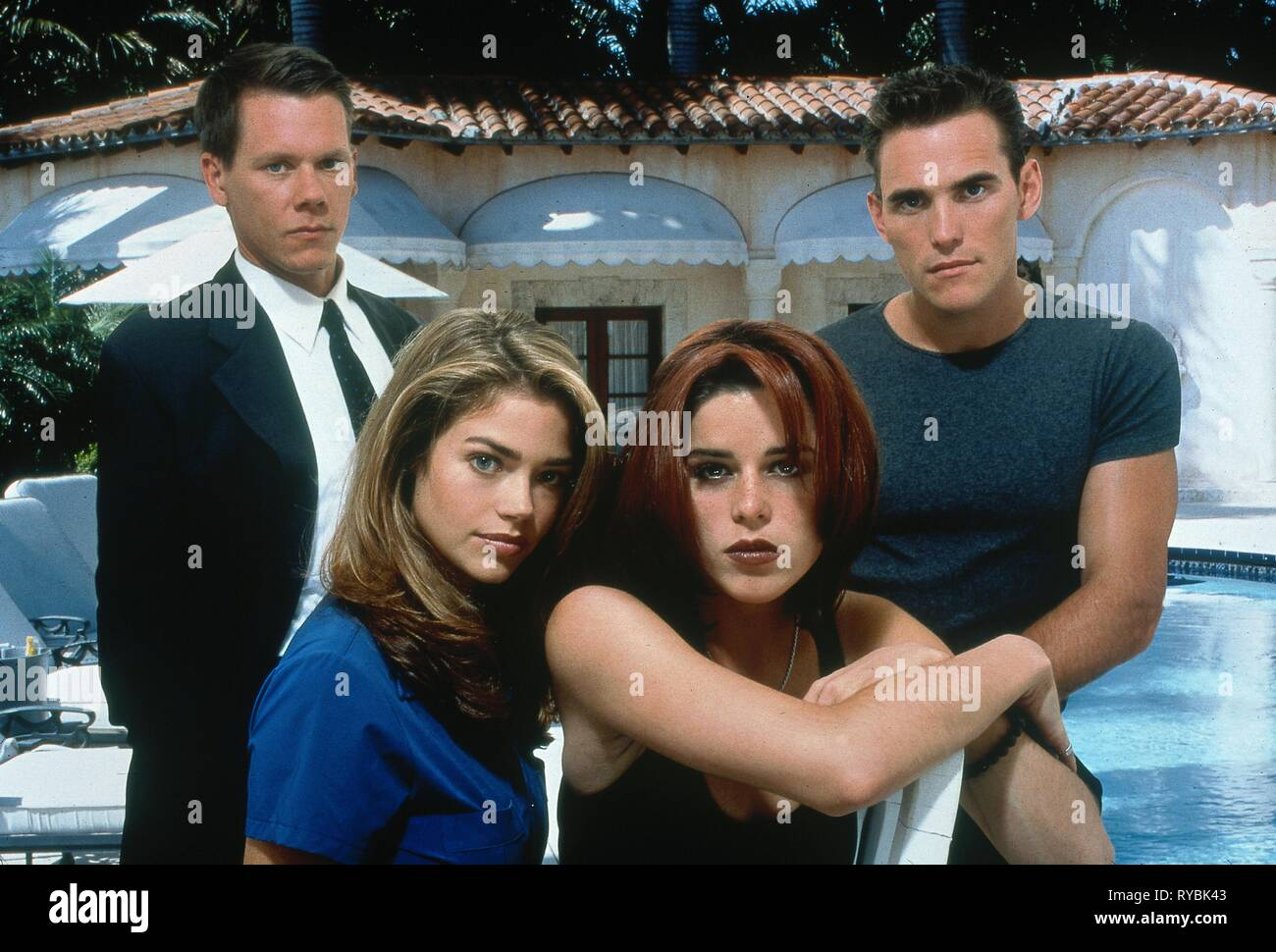 KEVIN BACON, DENISE RICHARDS, NEVE CAMPBELL,MATT DILLON, WILD THINGS, 1998 - Stock Image