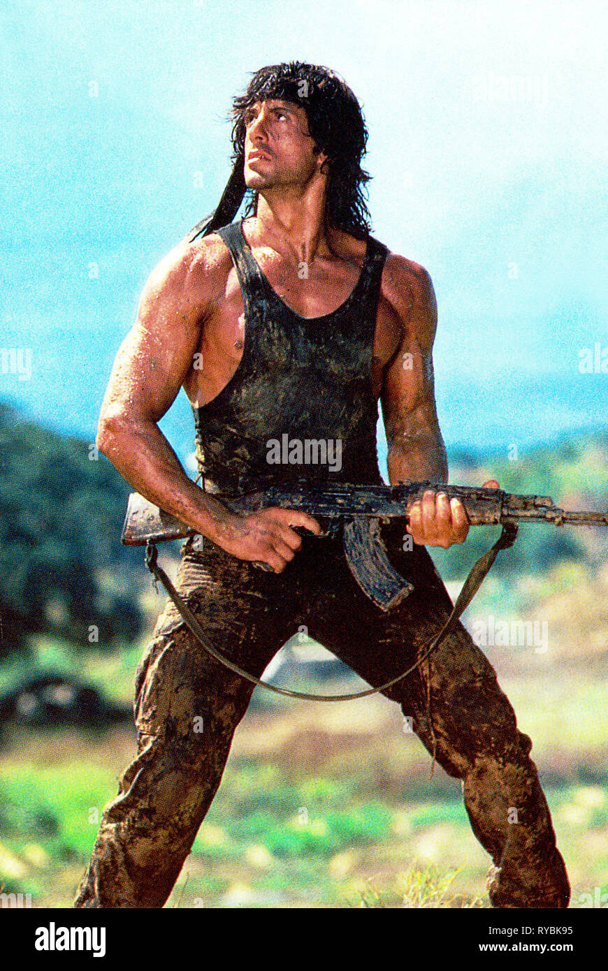 Sylvester Stallone Rambo First Blood Part Ii 1985 Stock Photo Alamy