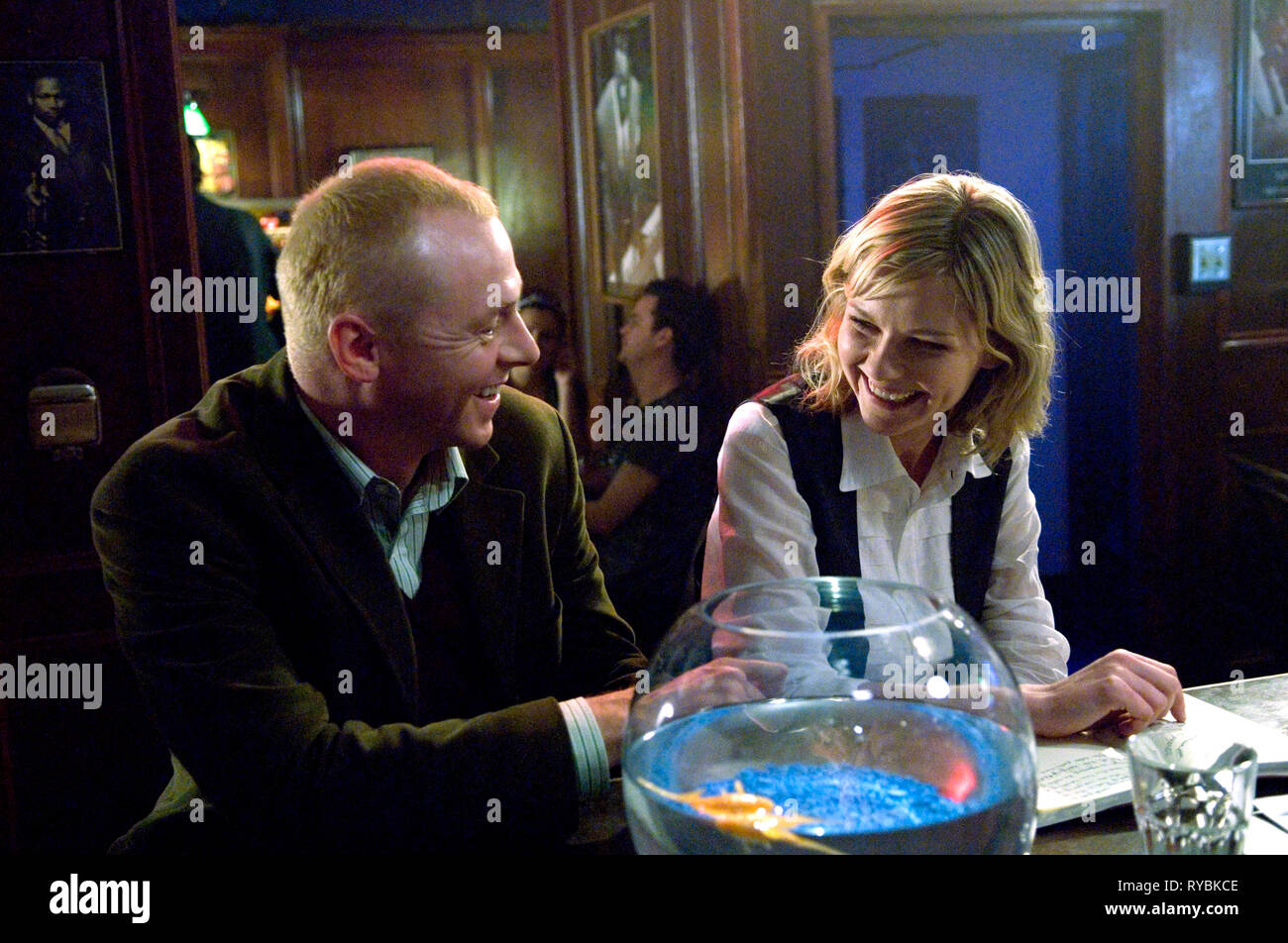 SIMON PEGG,KIRSTEN DUNST, HOW TO LOSE FRIENDS and ALIENATE PEOPLE, 2008 - Stock Image