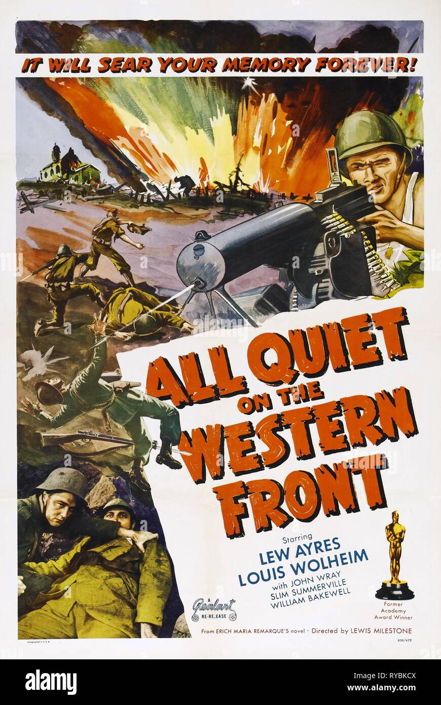 MOVIE POSTER, ALL QUIET ON THE WESTERN FRONT, 1930 - Stock Image