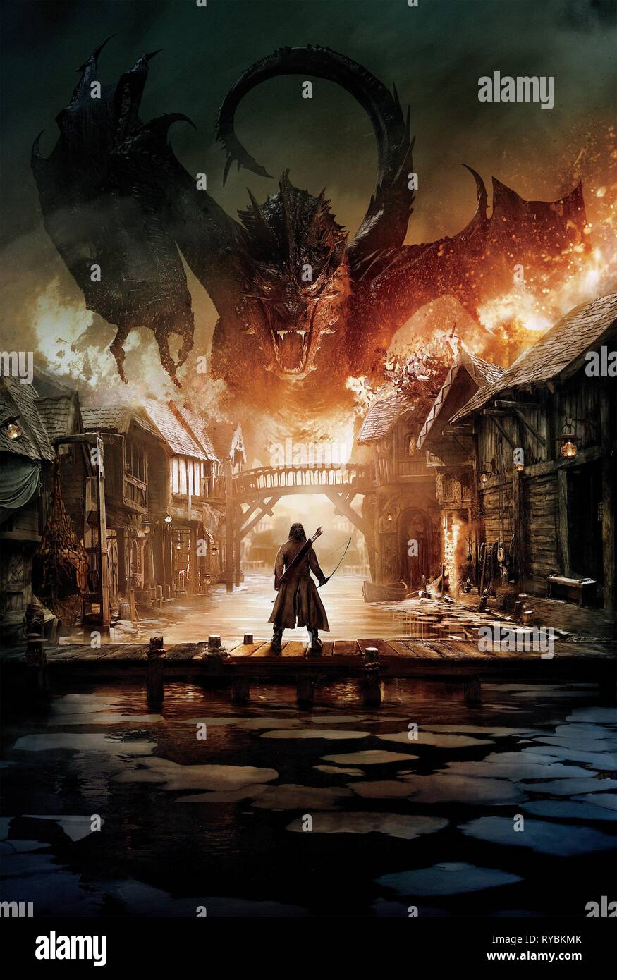 LUKE EVANS, THE HOBBIT: THE BATTLE OF THE FIVE ARMIES, 2014 - Stock Image