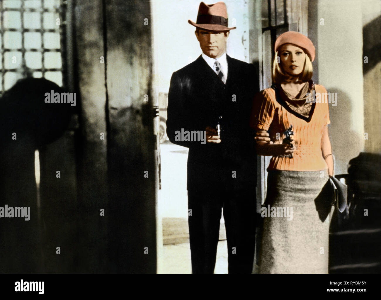 WARREN BEATTY, FAYE DUNAWAY, BONNIE AND CLYDE, 1967 - Stock Image