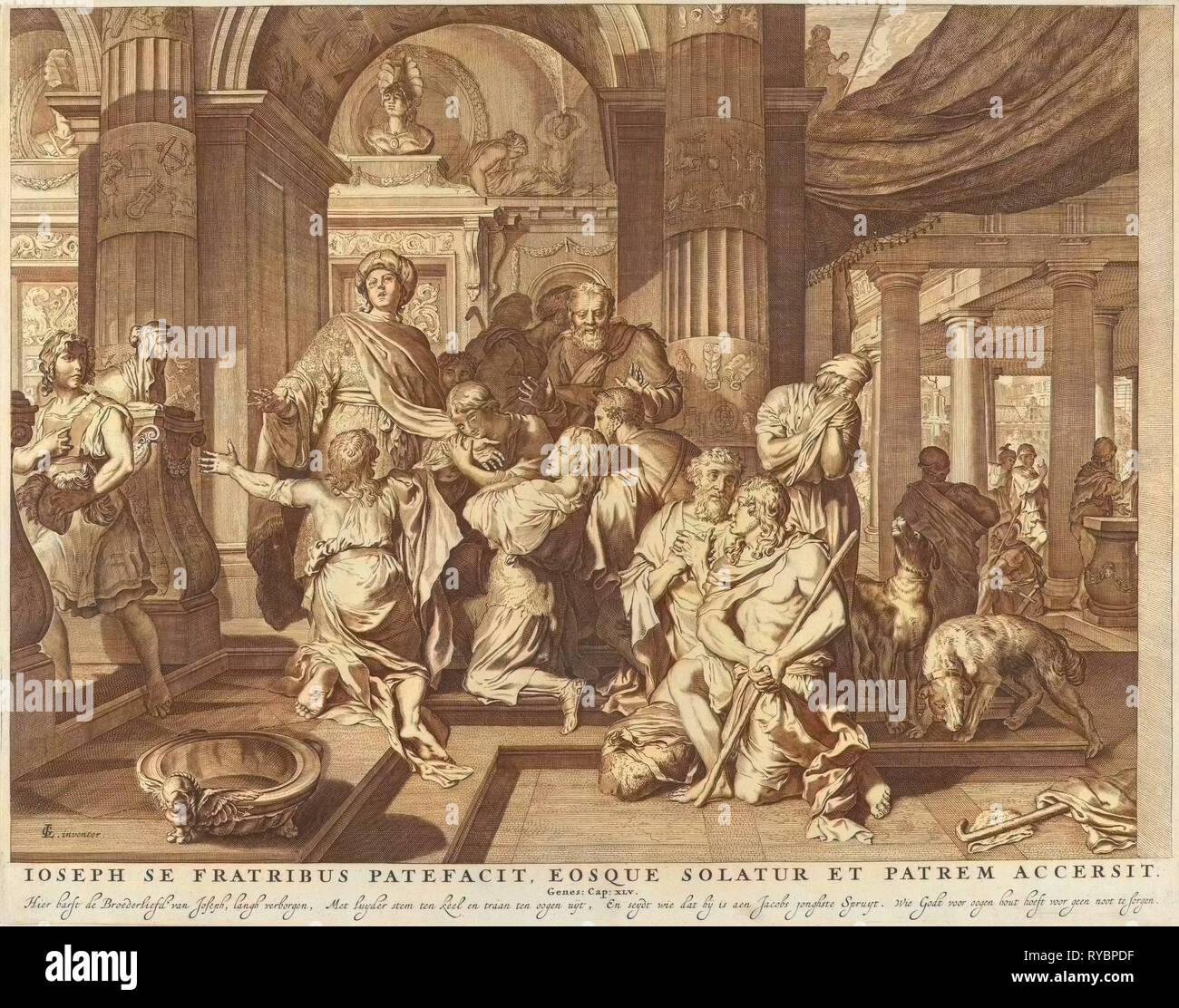 Joseph reveals himself to his brothers, Anonymous, Nicolaes Visscher (I),  Nicolaes