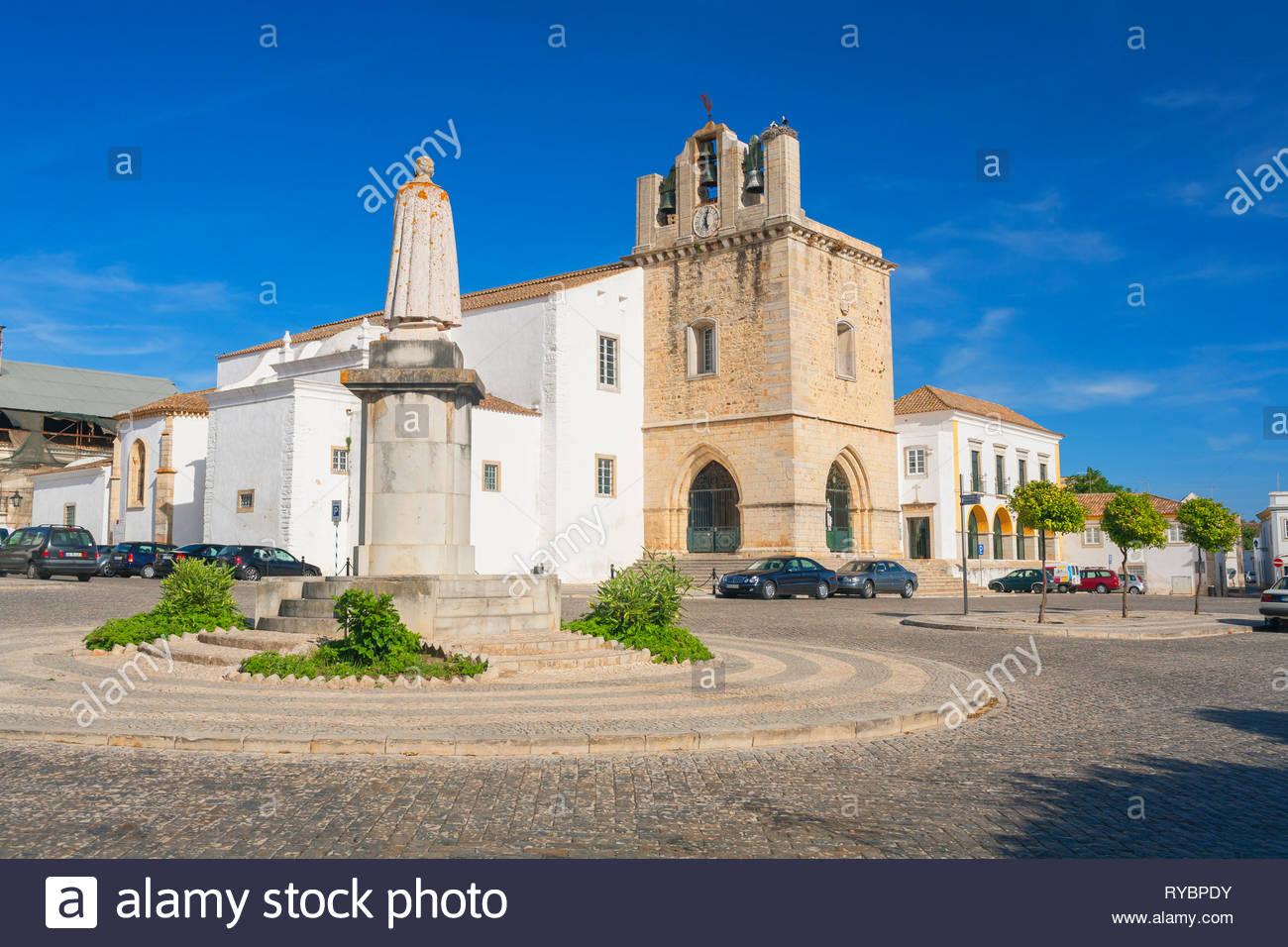 Cathedral, Faro, Algarve, Portugal - Stock Image