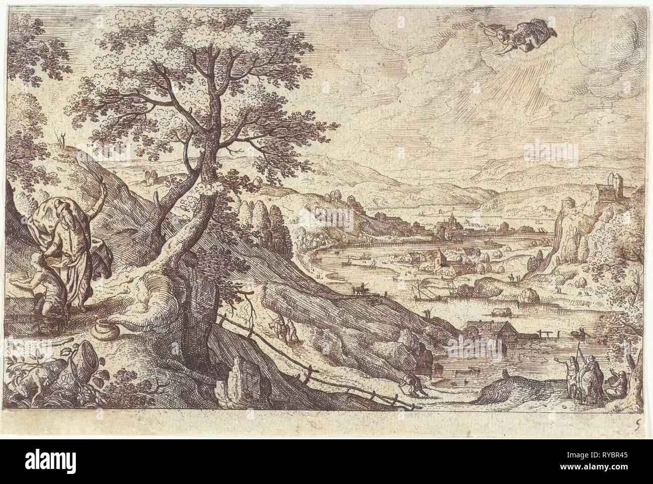 Sacrifice of Isaac, Hans Bol, Anonymous, c. 1550 - c. 1650 - Stock Image