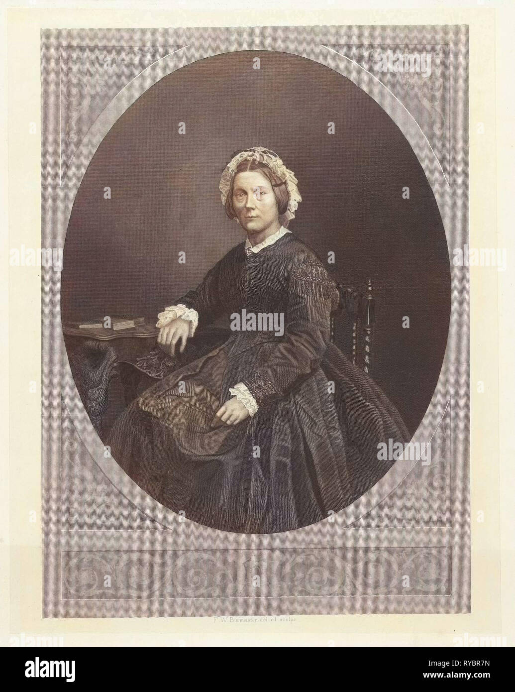 Portrait of Emma Boissevain - Nicholls, Friedrich Wilhelm Burmeister, 1855 - 1915 - Stock Image