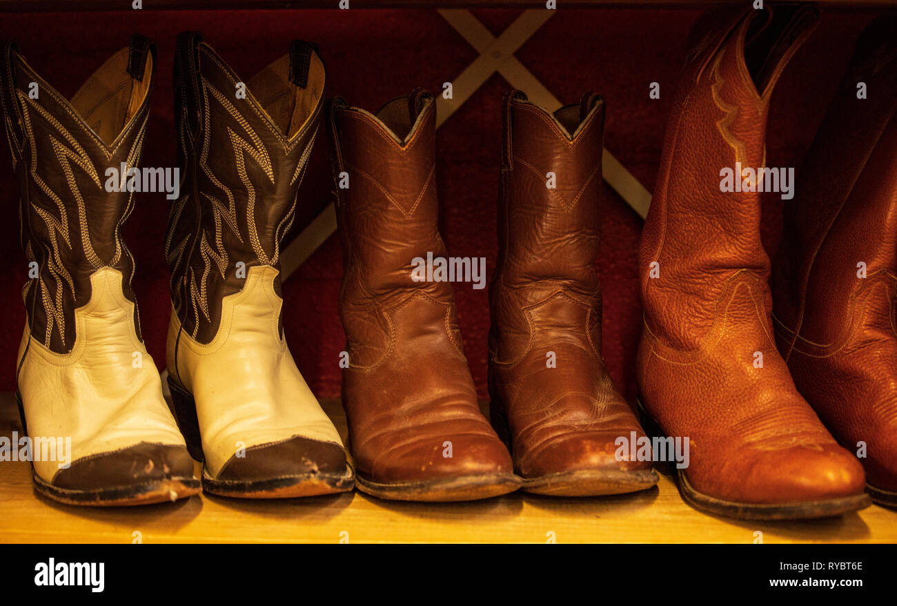 af0f0a3f302 Leather Cowboy Boots Stock Photos & Leather Cowboy Boots Stock ...