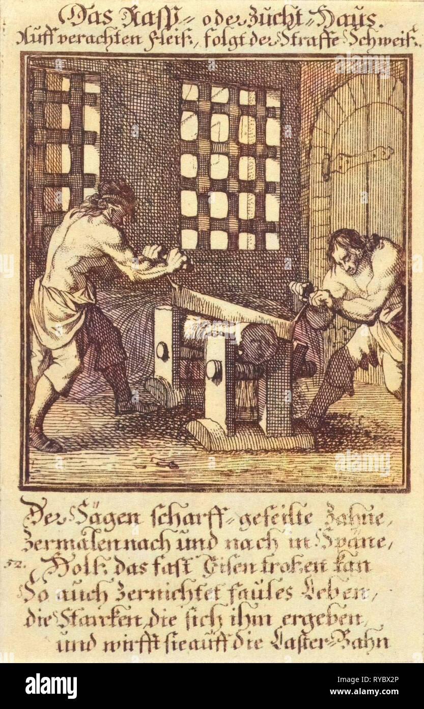 House of Correction, Caspar Luyken, Anonymous, 1711 - Stock Image