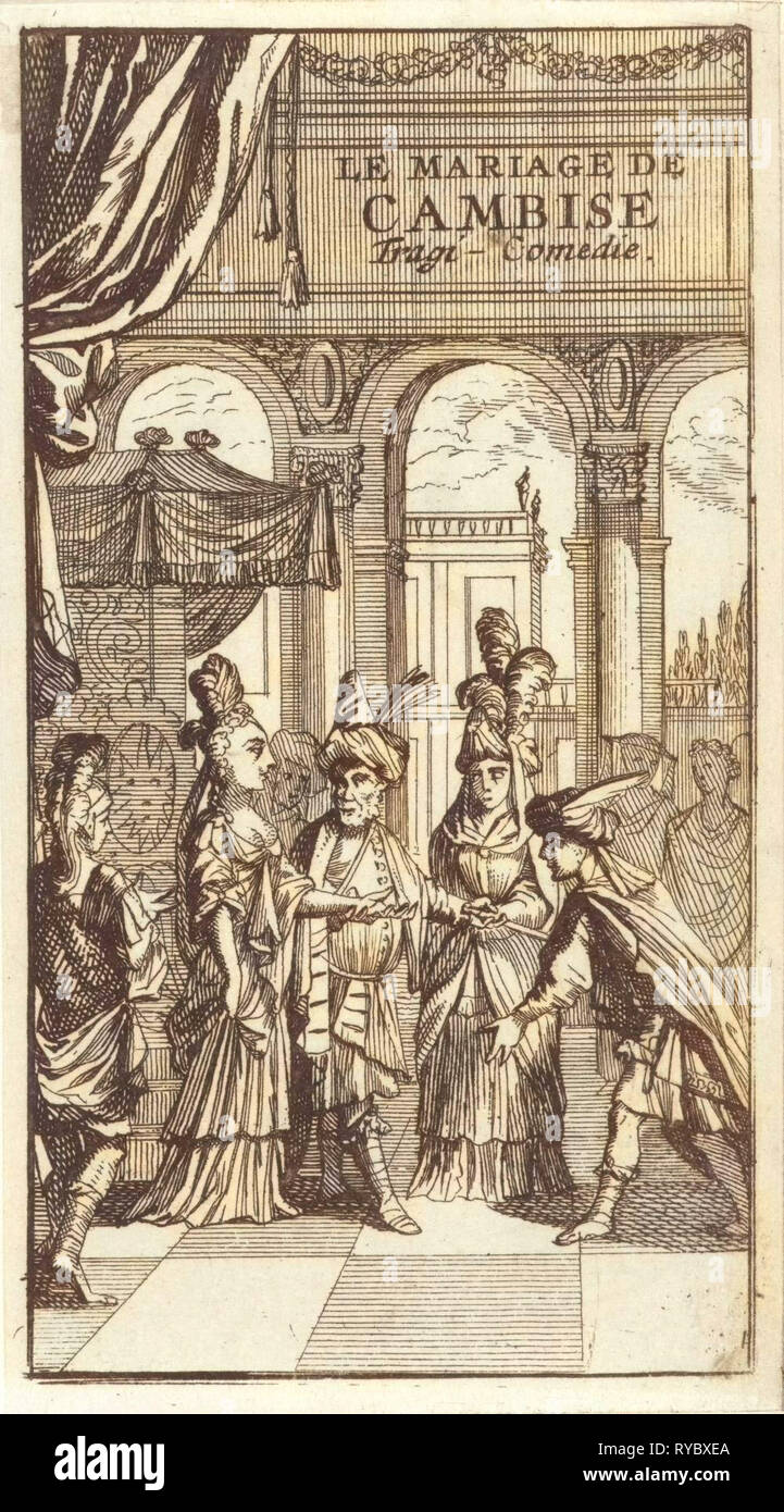 Title page for 'Le Mariage de Cambise', in: P. Quinault, Le theater, Part I, 1697 - Stock Image