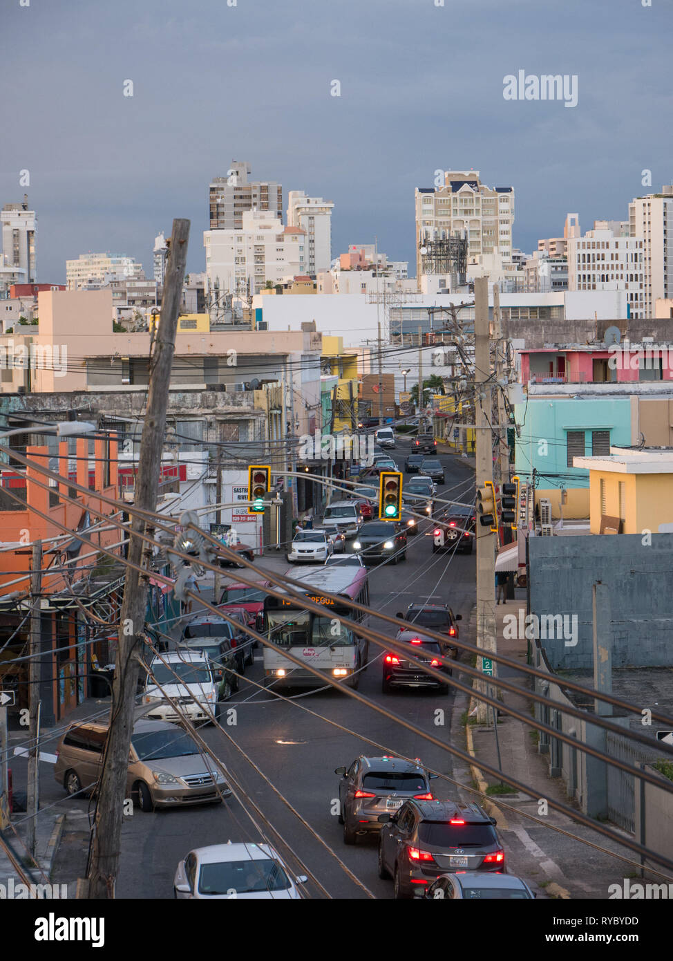 Santurce, San Juan, Puerto Rico. January 2019. Calle Loiza is the place where you feel at home in Santurce Puerto Rico. An authentic Puerto Rican comm - Stock Image