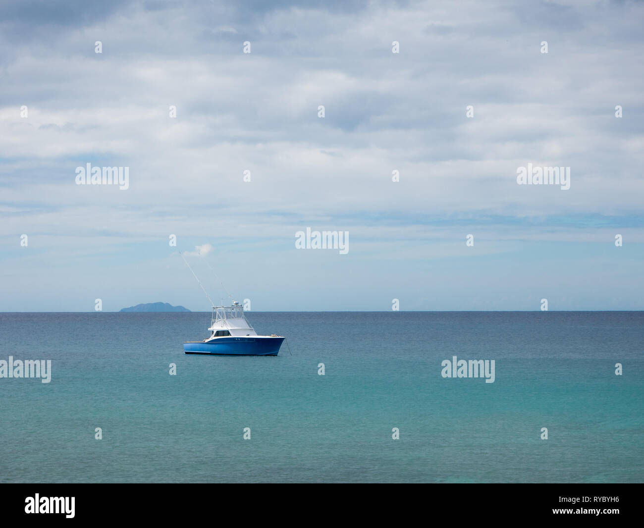 The calm waters on the south-west part of Puerto Rico, USA - Stock Image