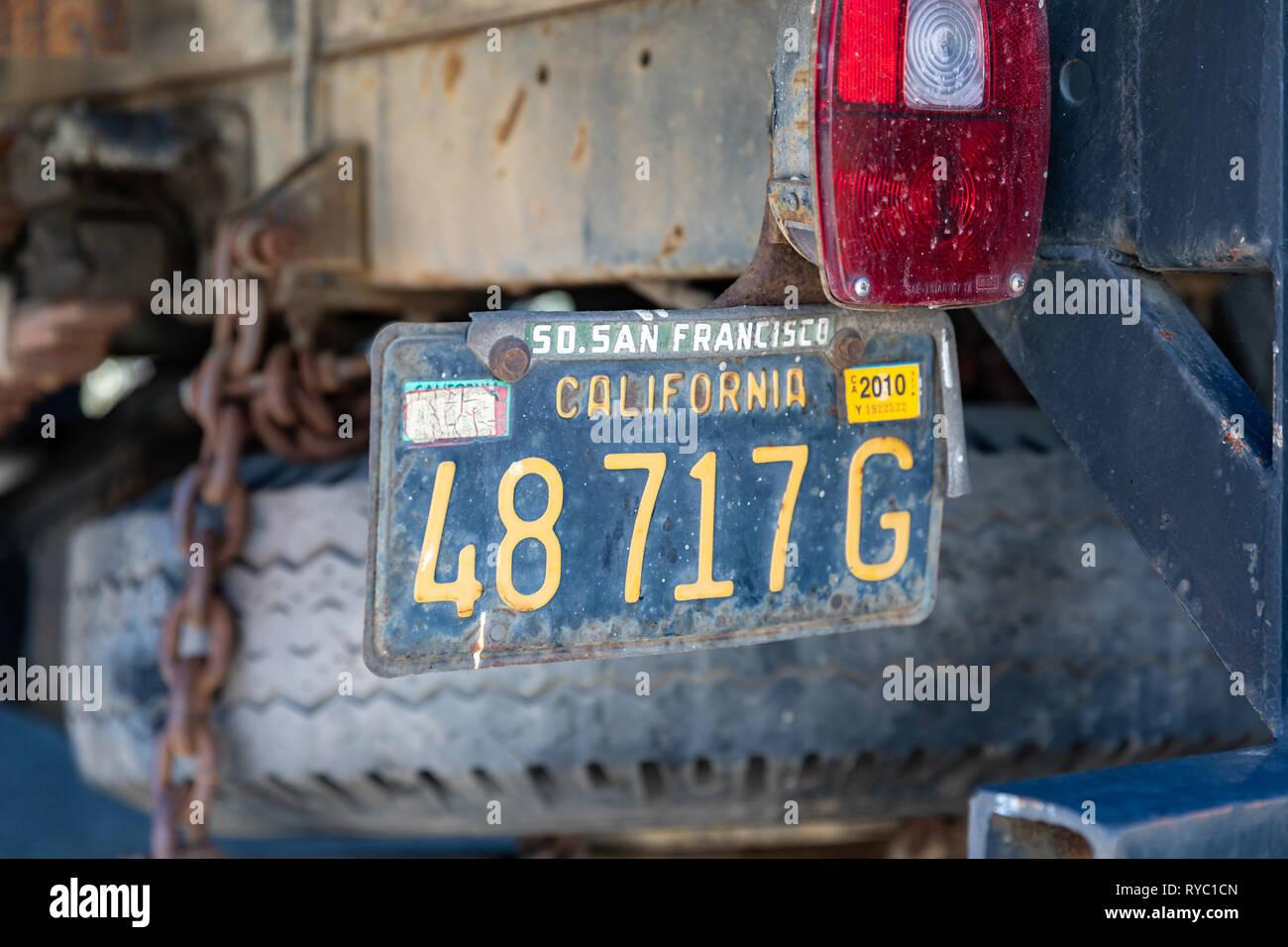 SAN FRANCISCO California Metal CA License Plate