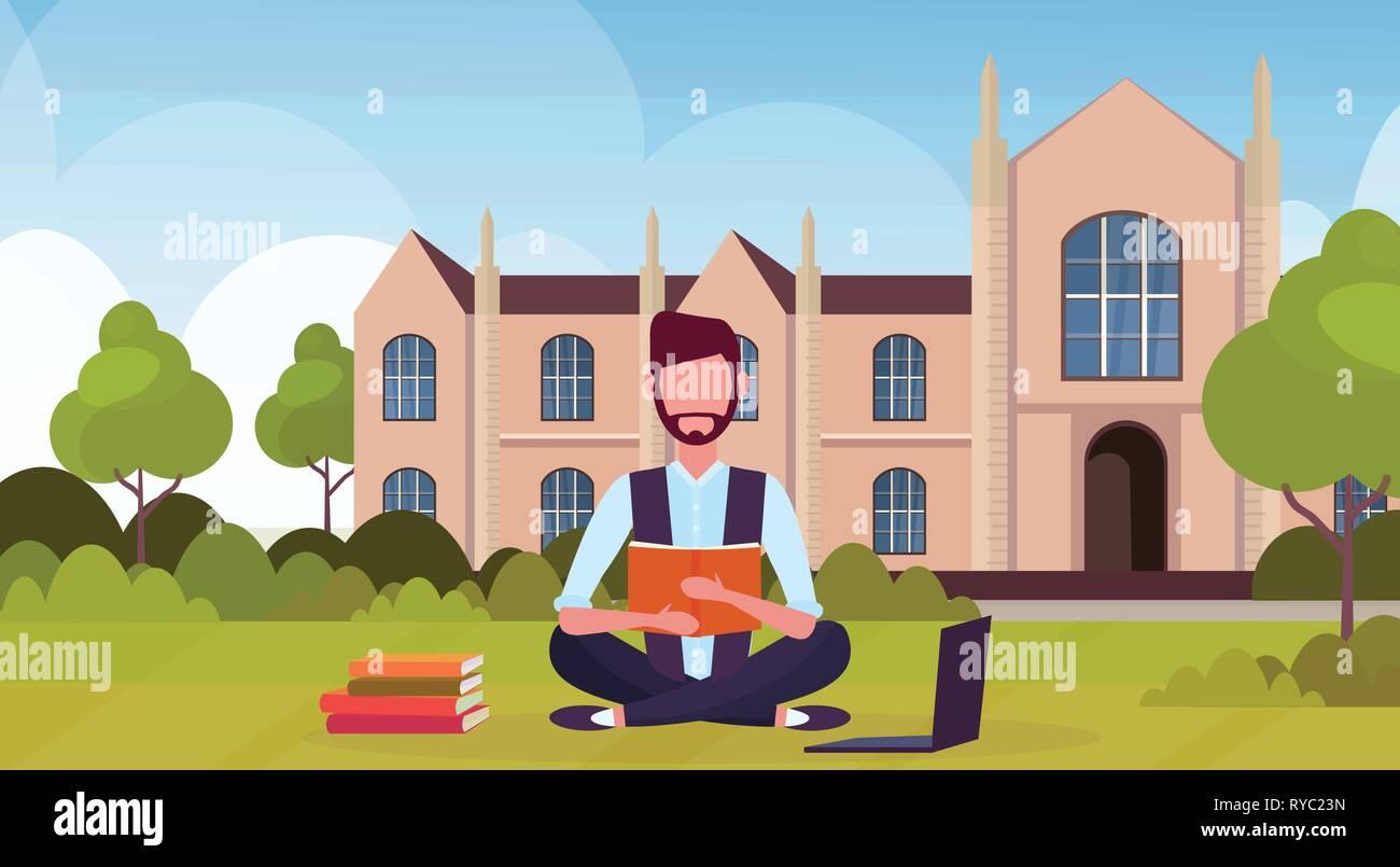 cartoon vector illustration villa bg  |Brown University Building Cartoon