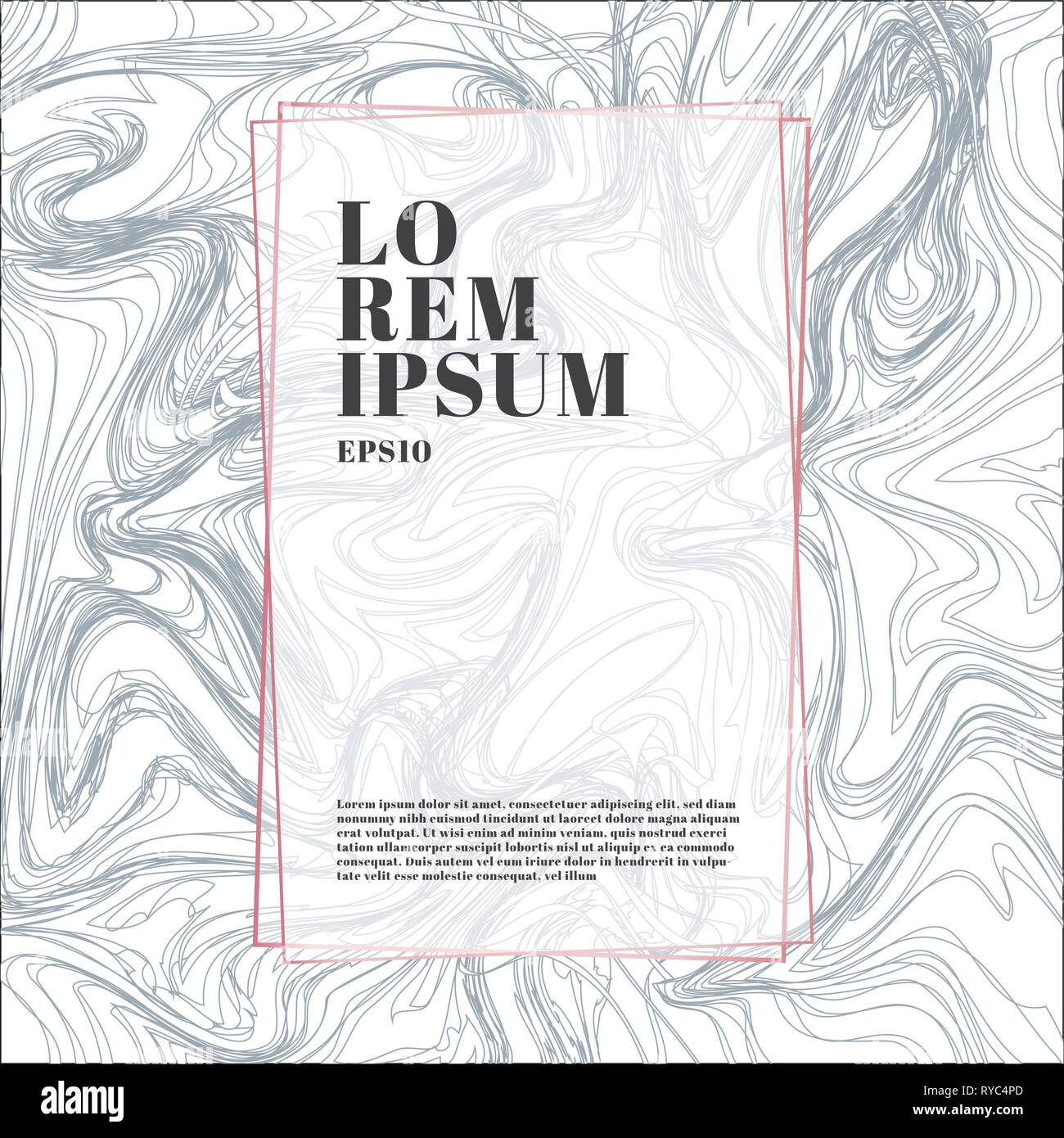 Template Pink Gold Color Frame On White And Gray Marble Background And Texture Luxury Style Trendy Pattern Poster Geometric Brochure Cover Cards Stock Vector Image Art Alamy