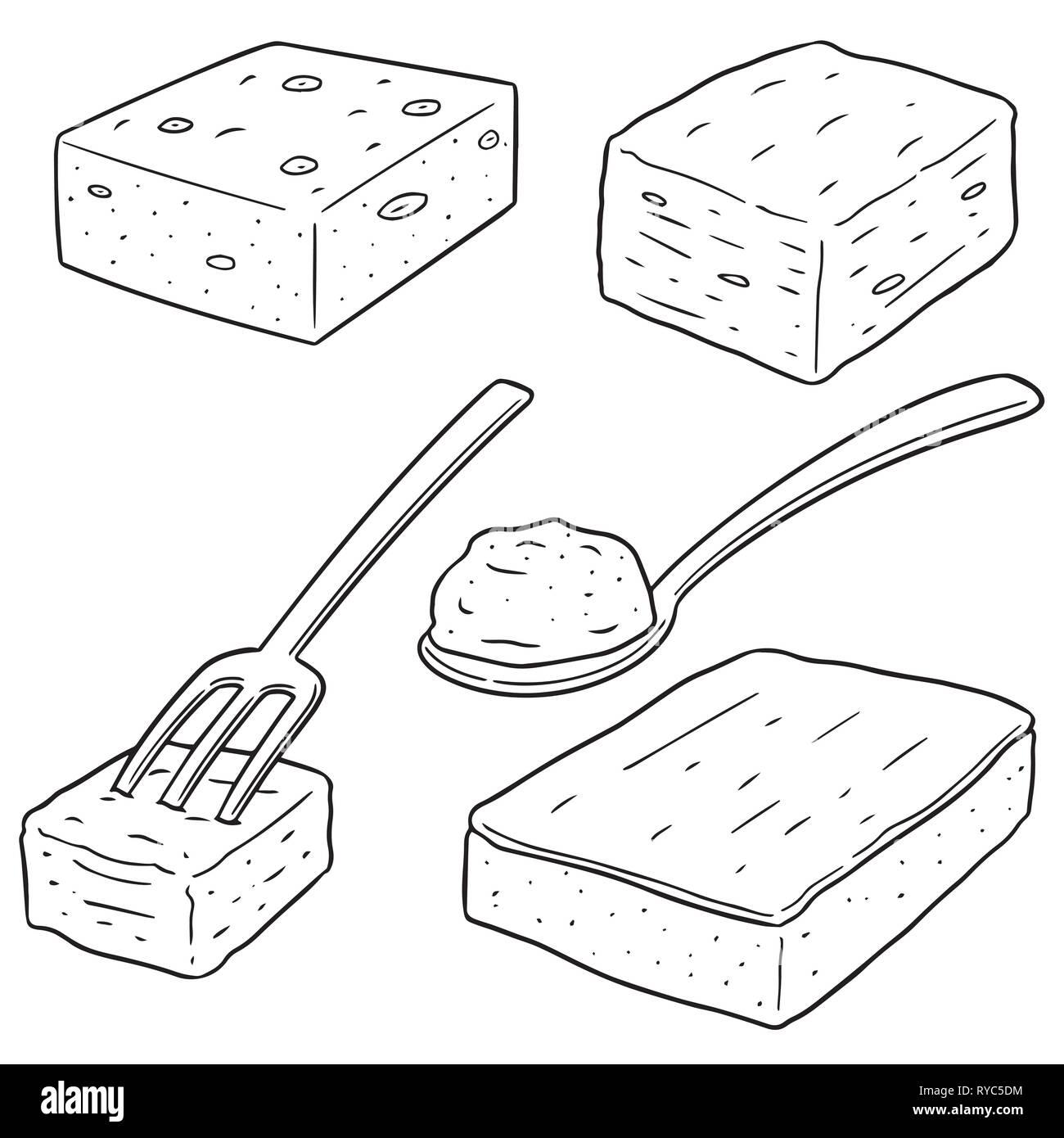 vector set of brownie - Stock Image