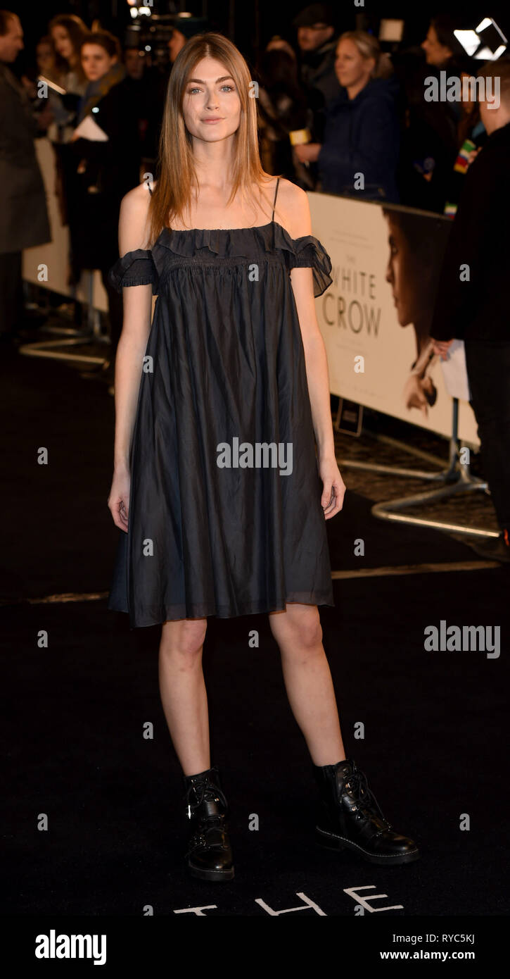 Photo Must Be Credited ©Alpha Press 079965 12/03/2019 Eve Delf The White Crow UK Premiere At Curzon Mayfair London - Stock Image