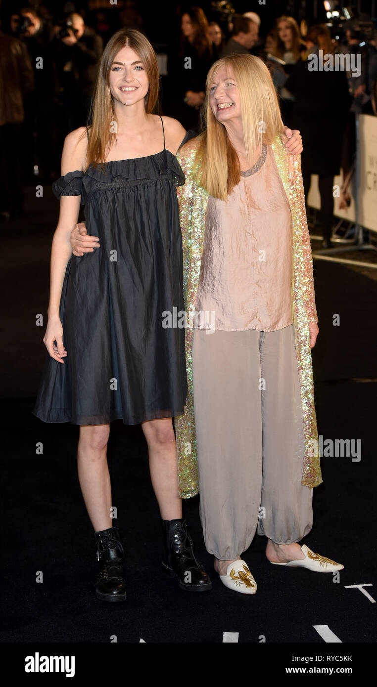 Photo Must Be Credited ©Alpha Press 079965 12/03/2019 Eve Delf and Mum Angela The White Crow UK Premiere At Curzon Mayfair London - Stock Image