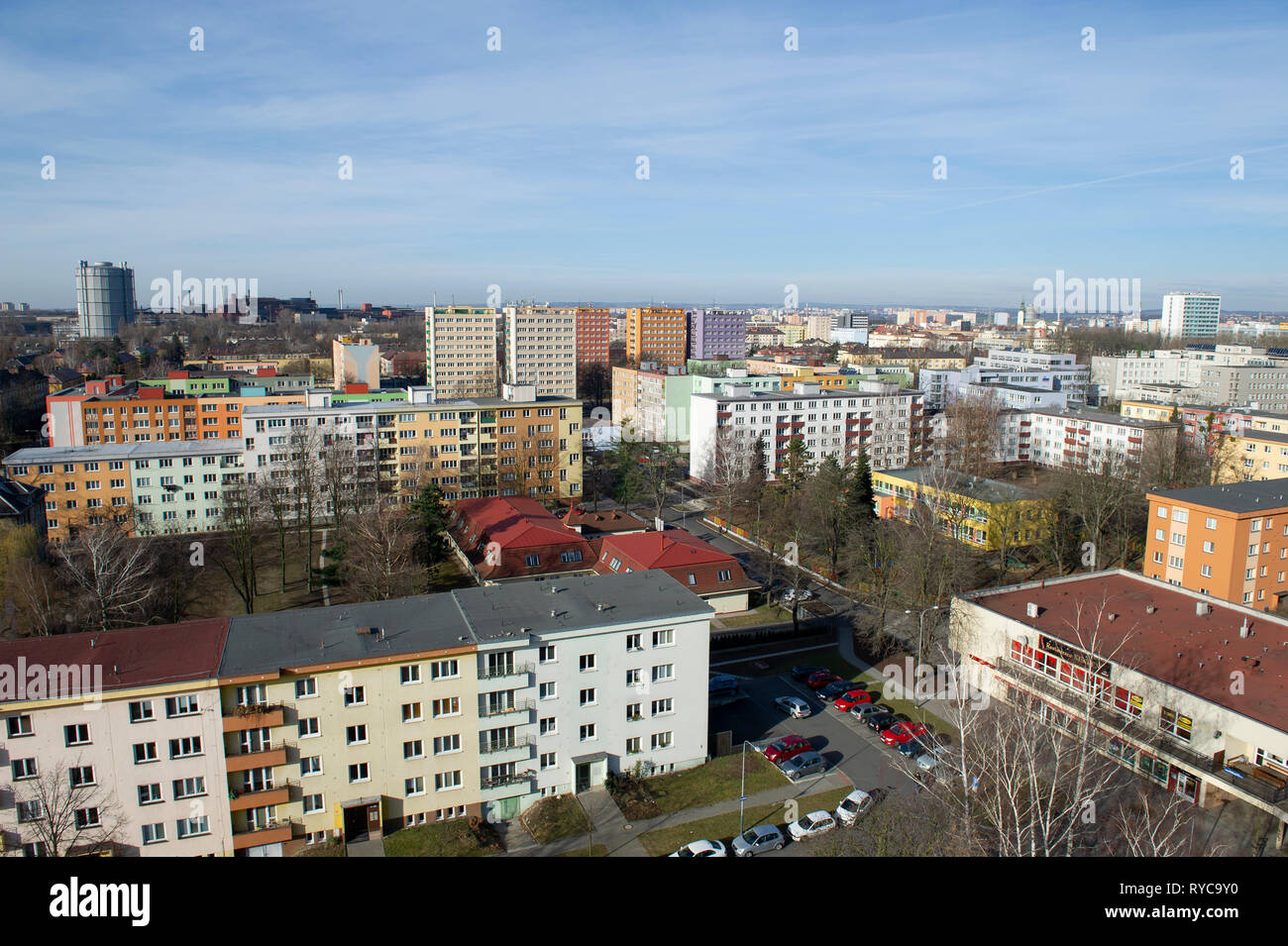Apartment buildings in Ostrava, Czech Republic - Stock Image