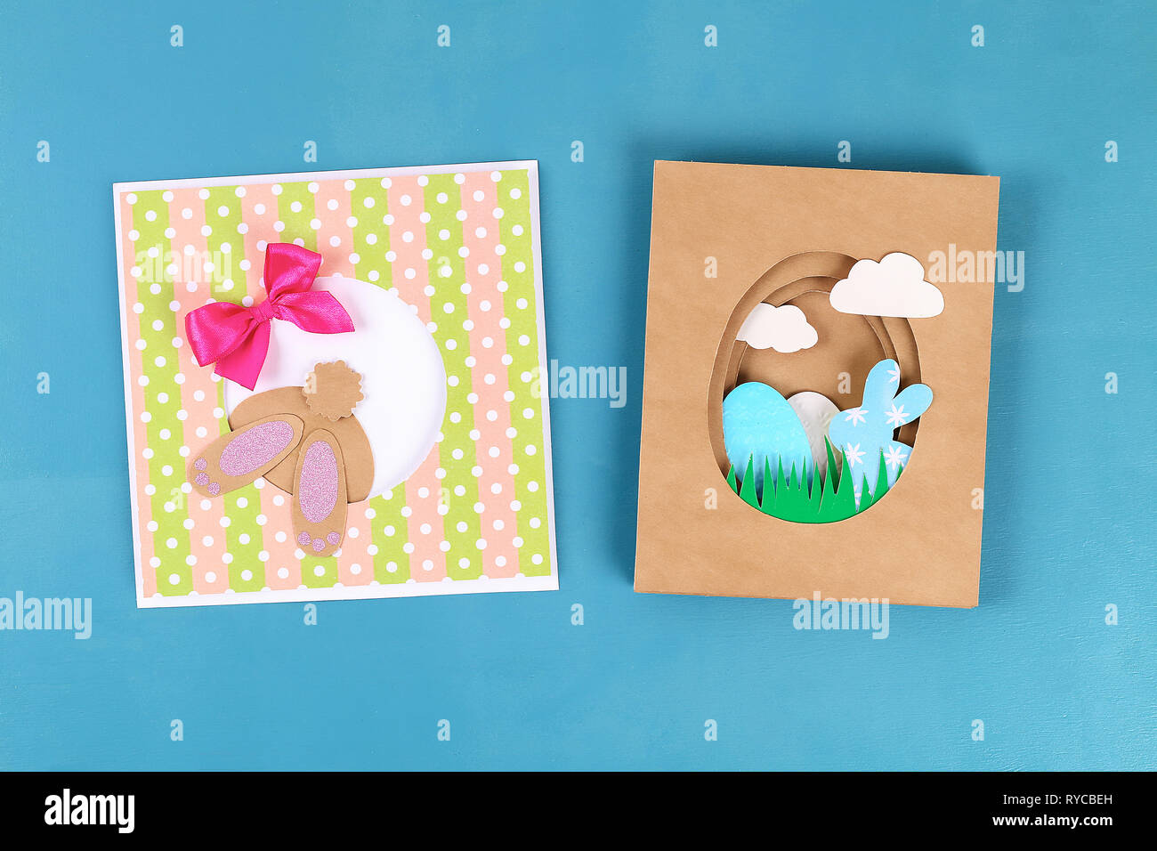 Diy Easter Cards From Paper Volume Greeting Cards With A Bunny Egg