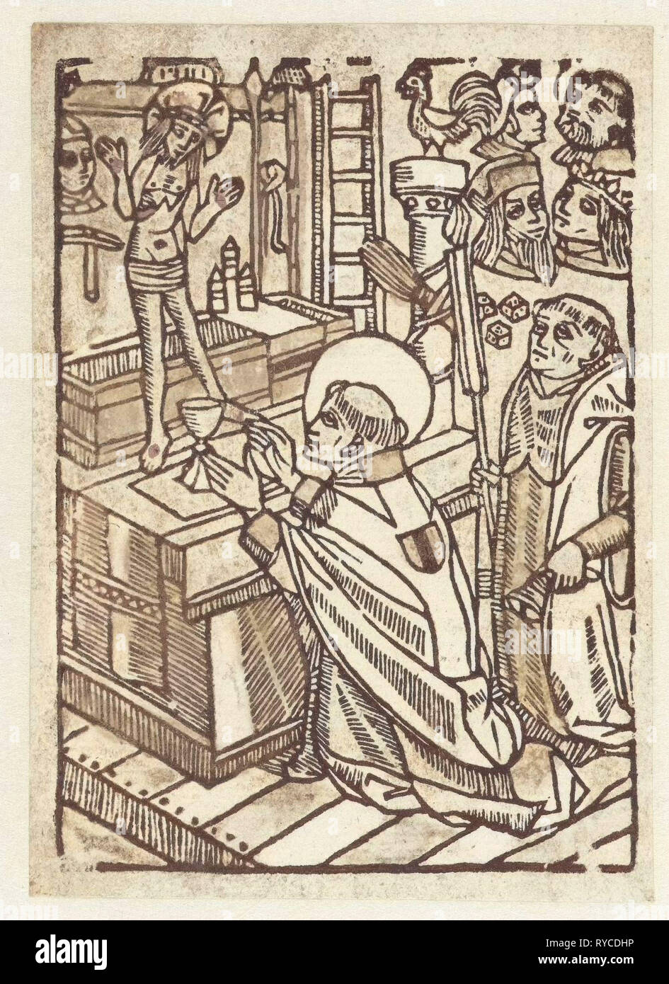 Mass of Saint Gregory, Anonymous, 1480 - 1500 Stock Photo