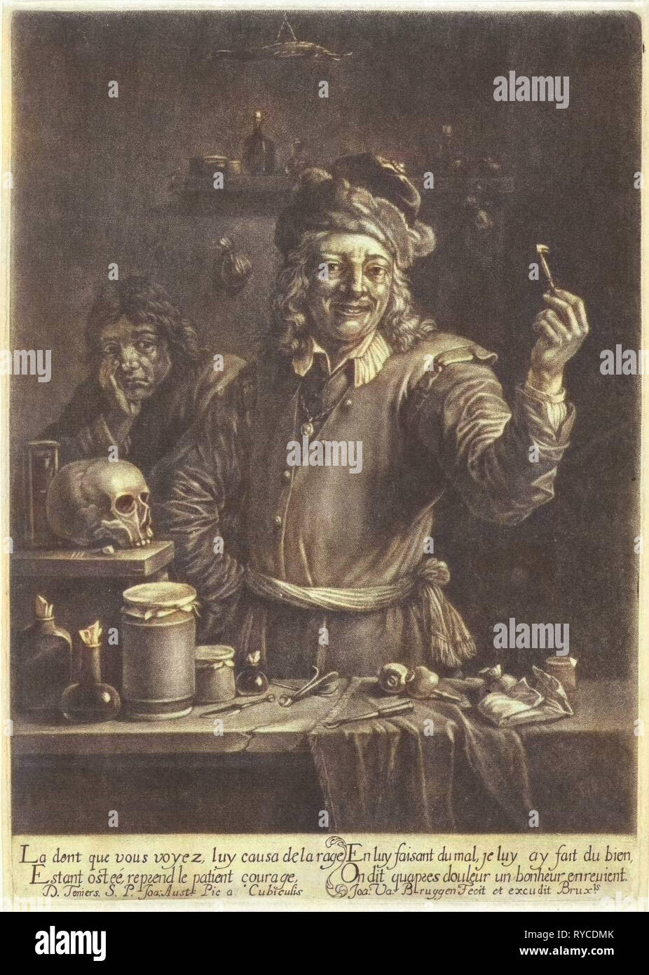 Dentist, Jan van der Bruggen, 1659 - 1681 - Stock Image