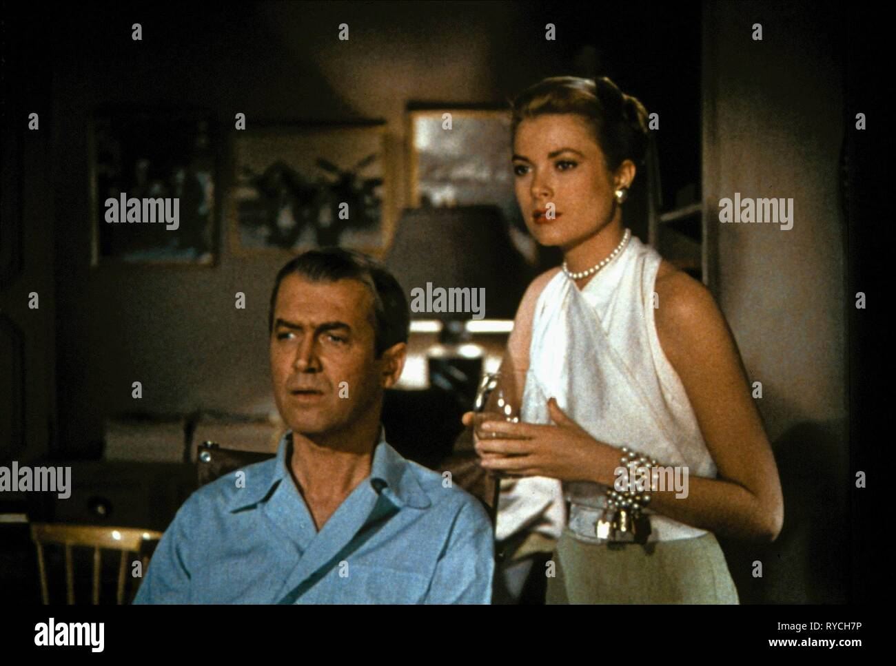 JAMES STEWART, GRACE KELLY, REAR WINDOW, 1954 - Stock Image