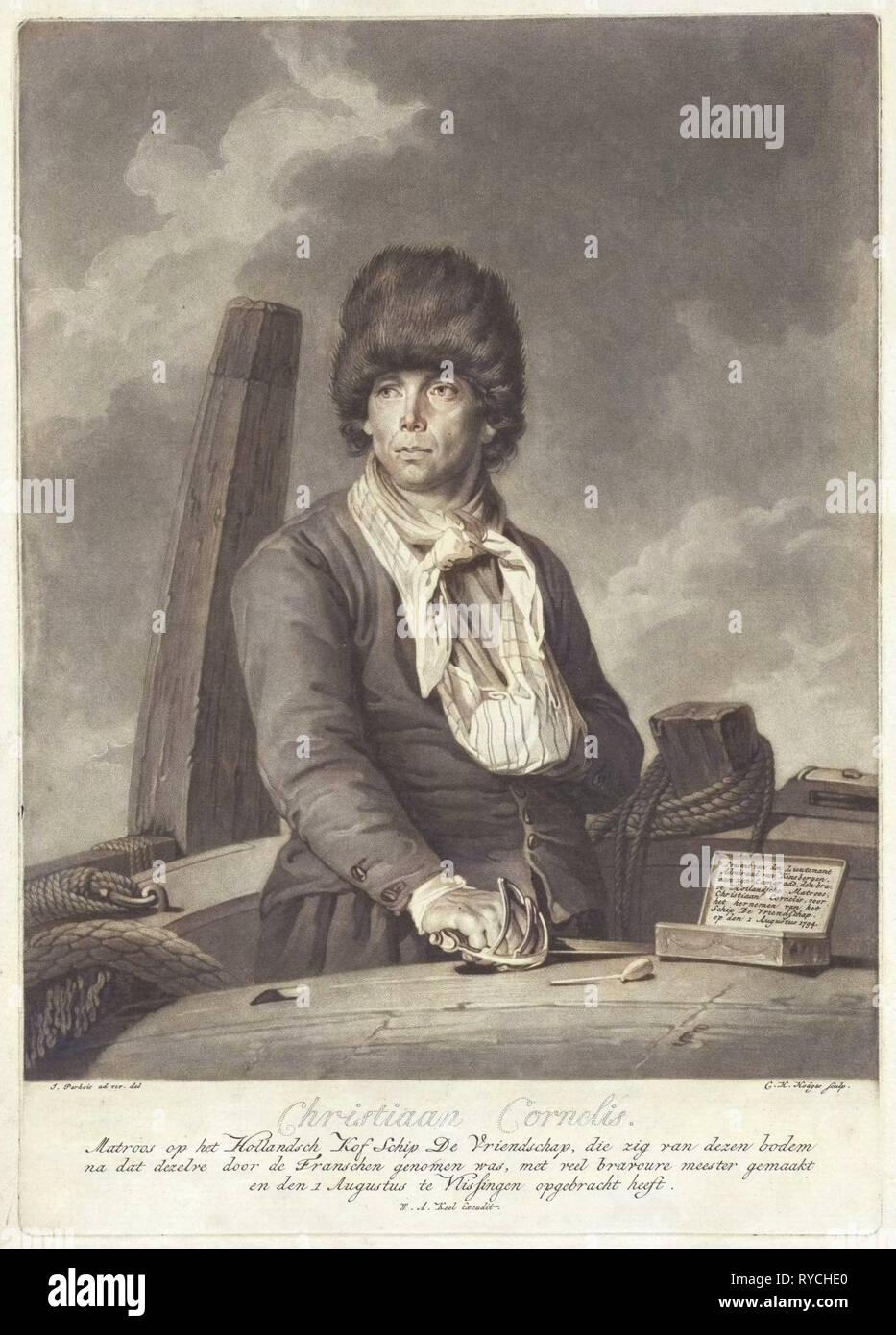 Portrait of Christiaan Cornelis, Charles Howard Hodges, William Alexander Keel, 1794-1796 - Stock Image