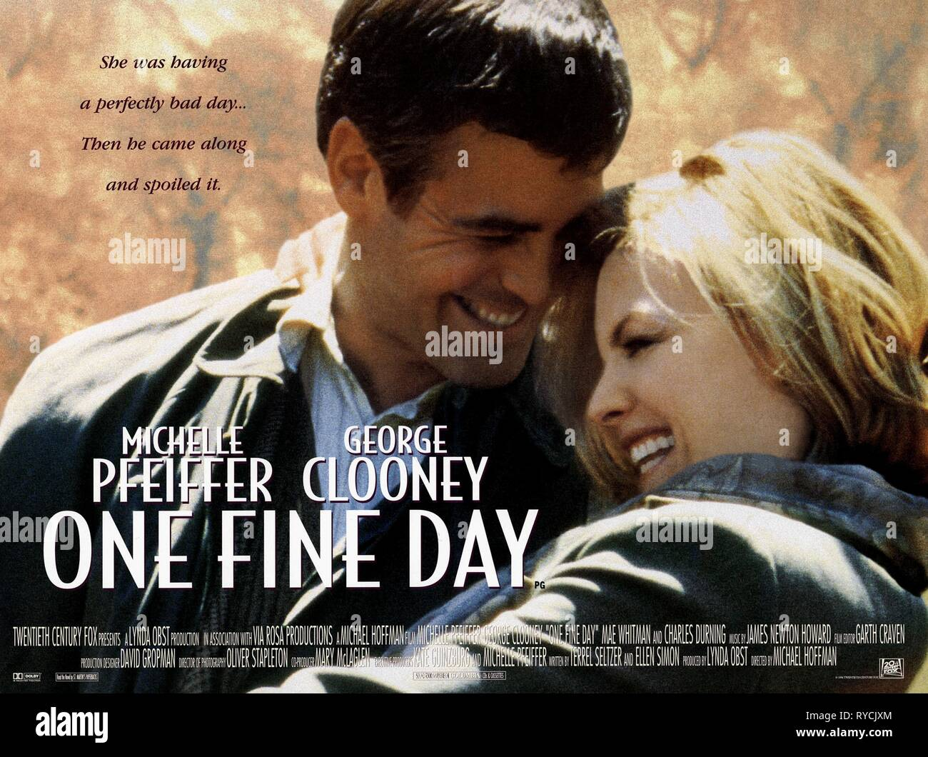 GEORGE CLOONEY, MICHELLE PFEIFFER, ONE FINE DAY, 1996 Stock Photo