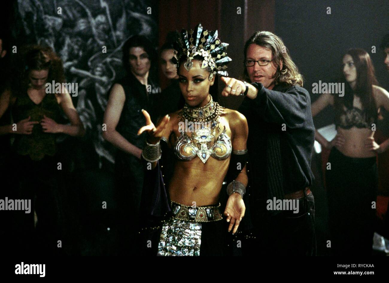 AALIYAH, MICHAEL RYMER, QUEEN OF THE DAMNED, 2002 - Stock Image