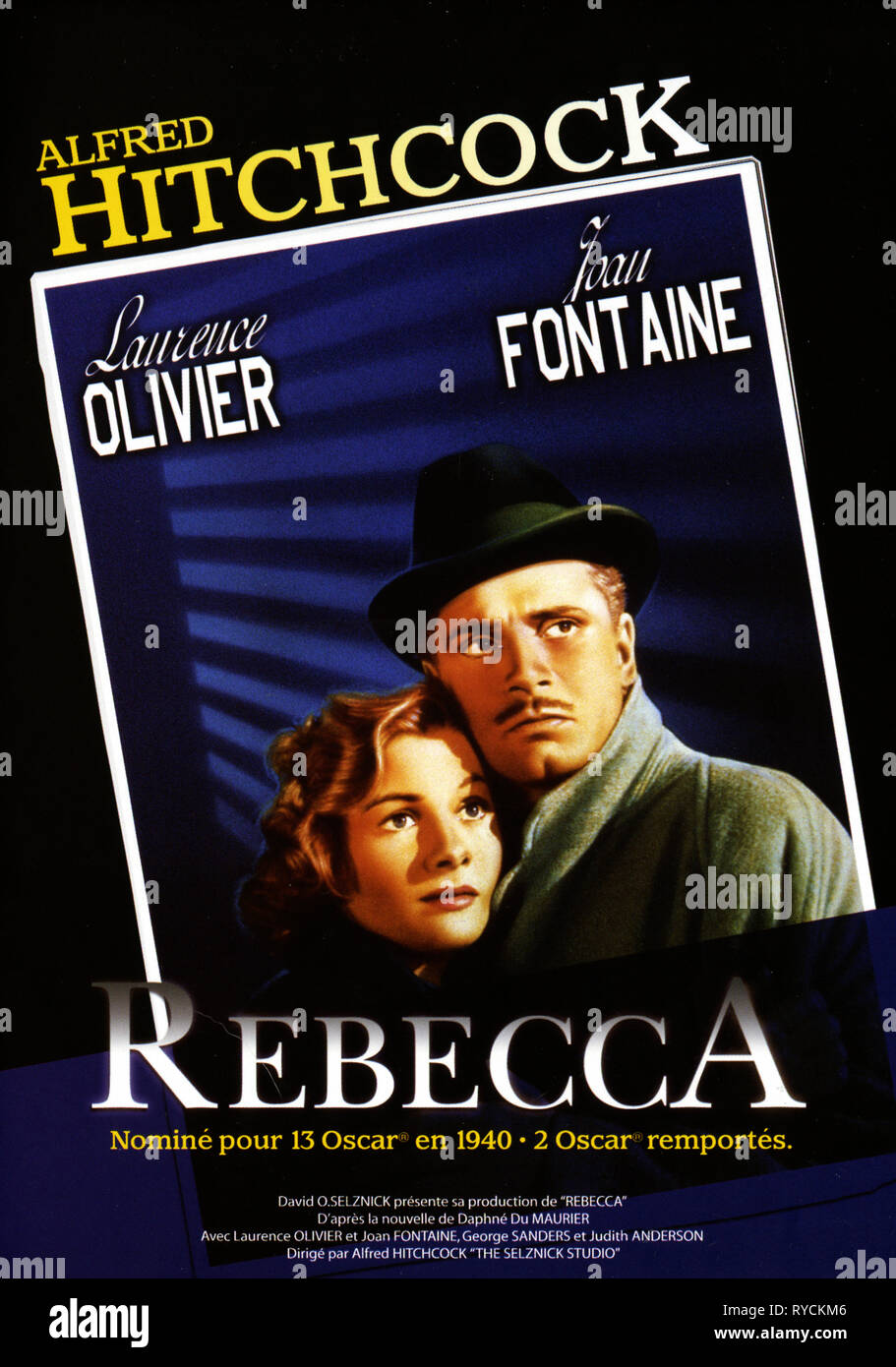 FRENCH MOVIE POSTER, REBECCA, 1940 - Stock Image