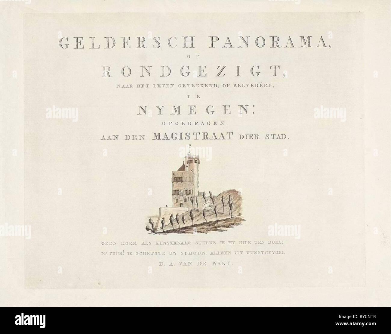 Belvédère Nijmegen, Derk Anthony van de Wart, 1815 - 1824 - Stock Image