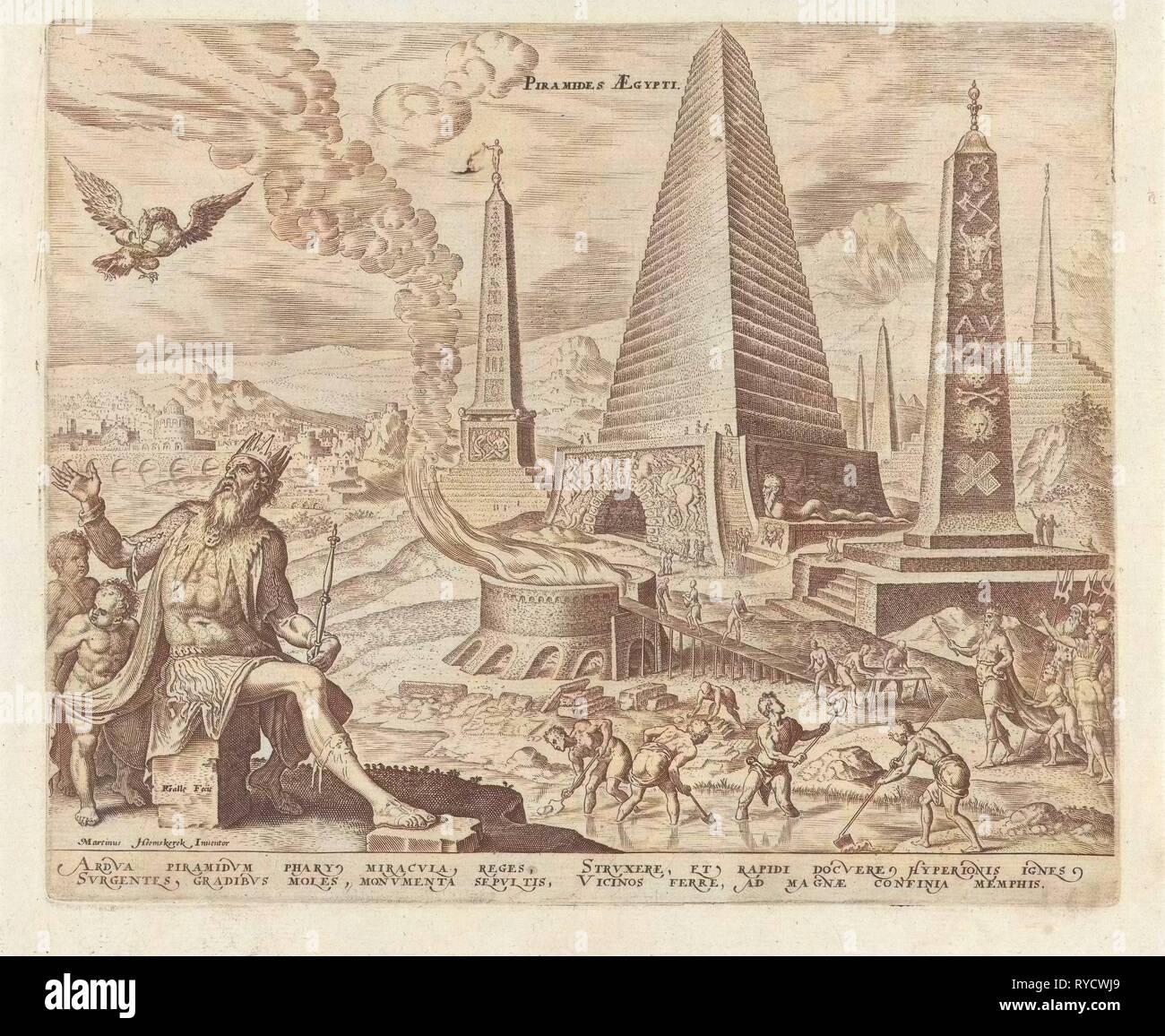 Pyramids of Egypt, Philips Galle, Hadrianus Junius, 1572