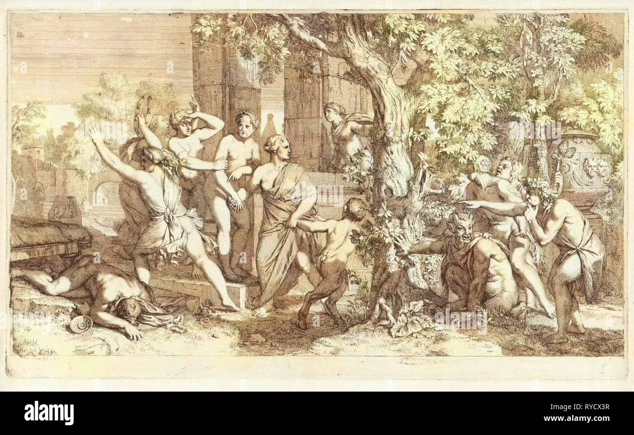 Nymphs surprised by Satyrs, Gerard de Lairesse, 1685 Stock Photo