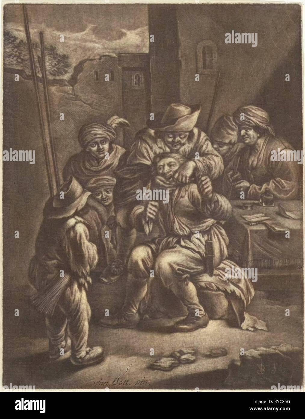 Dentist, print maker: Jan van Somer, Jan Both, 1655 - 1700 - Stock Image