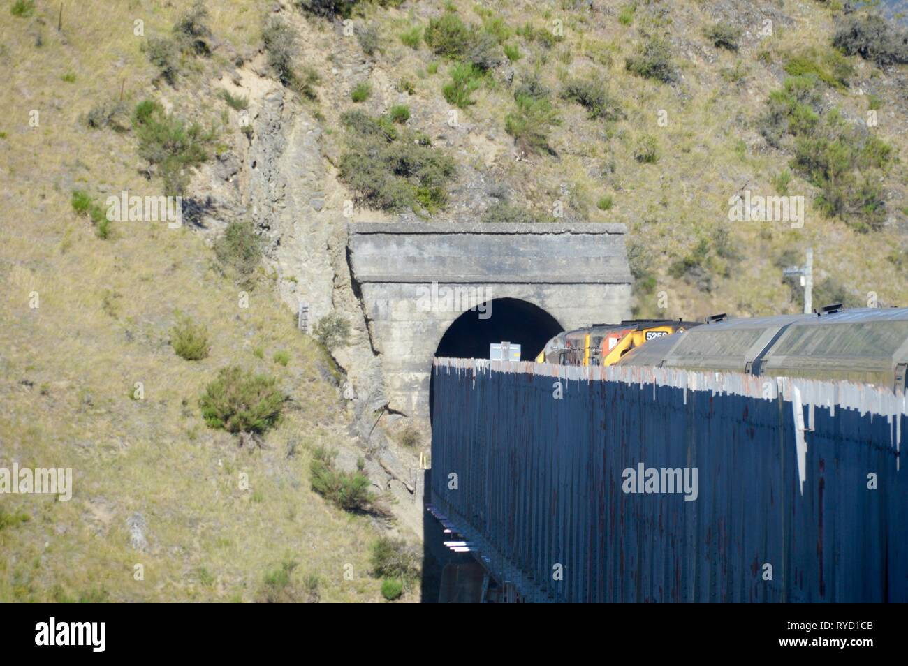 Train bridges in the New Zealand Alps - Stock Image