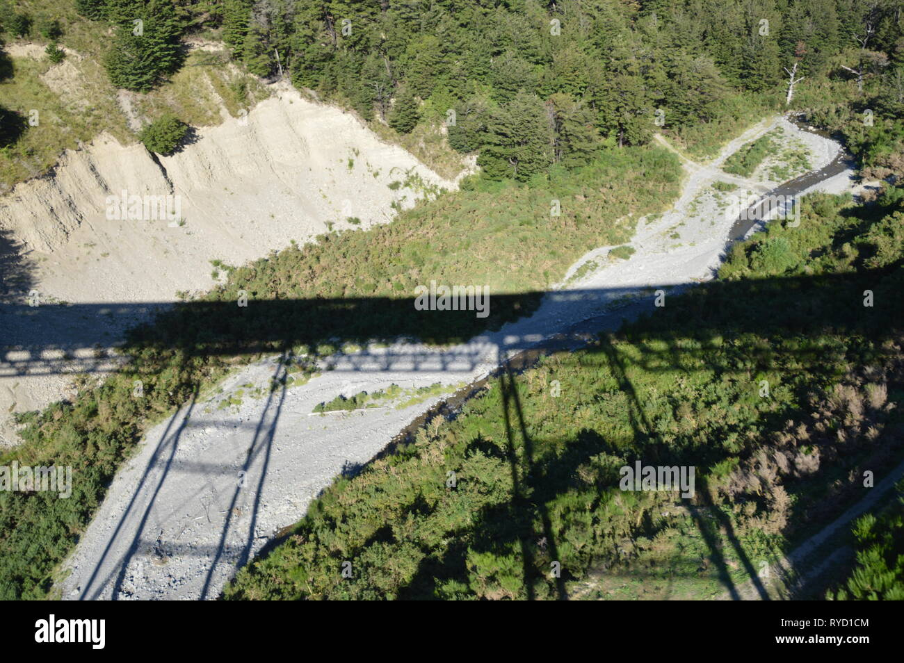 Train bridges in the New Zealand Alps seen from the Tranzalpine Stock Photo