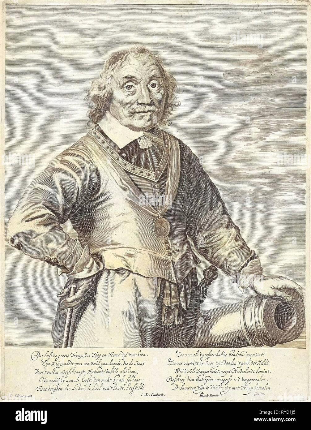 Portrait of Maarten Tromp Harpertsz, Anonymous, Allard, Jan Vos, 1648 - 1664 Stock Photo