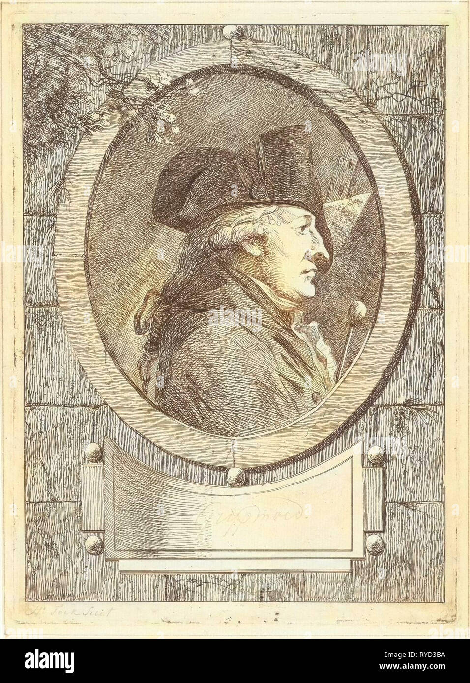 Portrait of Geerlig Grijpmoed, Hermanus Fock, 1781 - 1822 - Stock Image