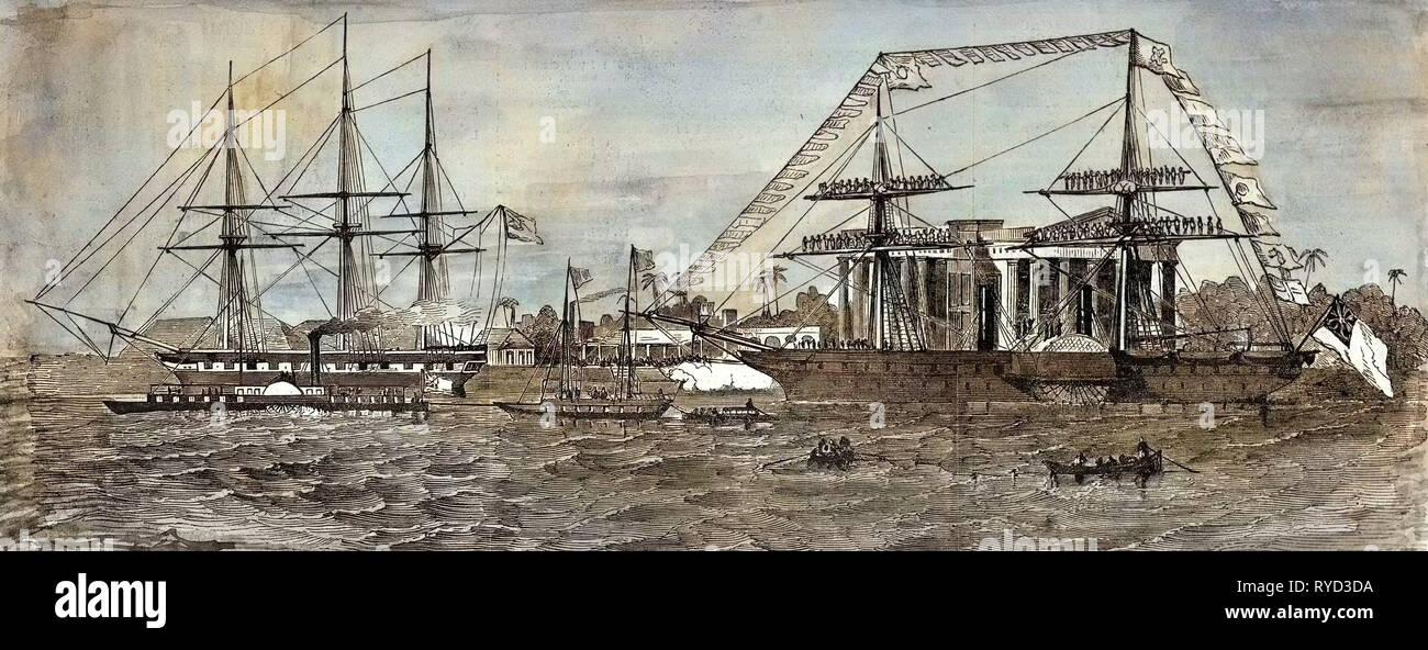 Calcutta India 1850 - Stock Image