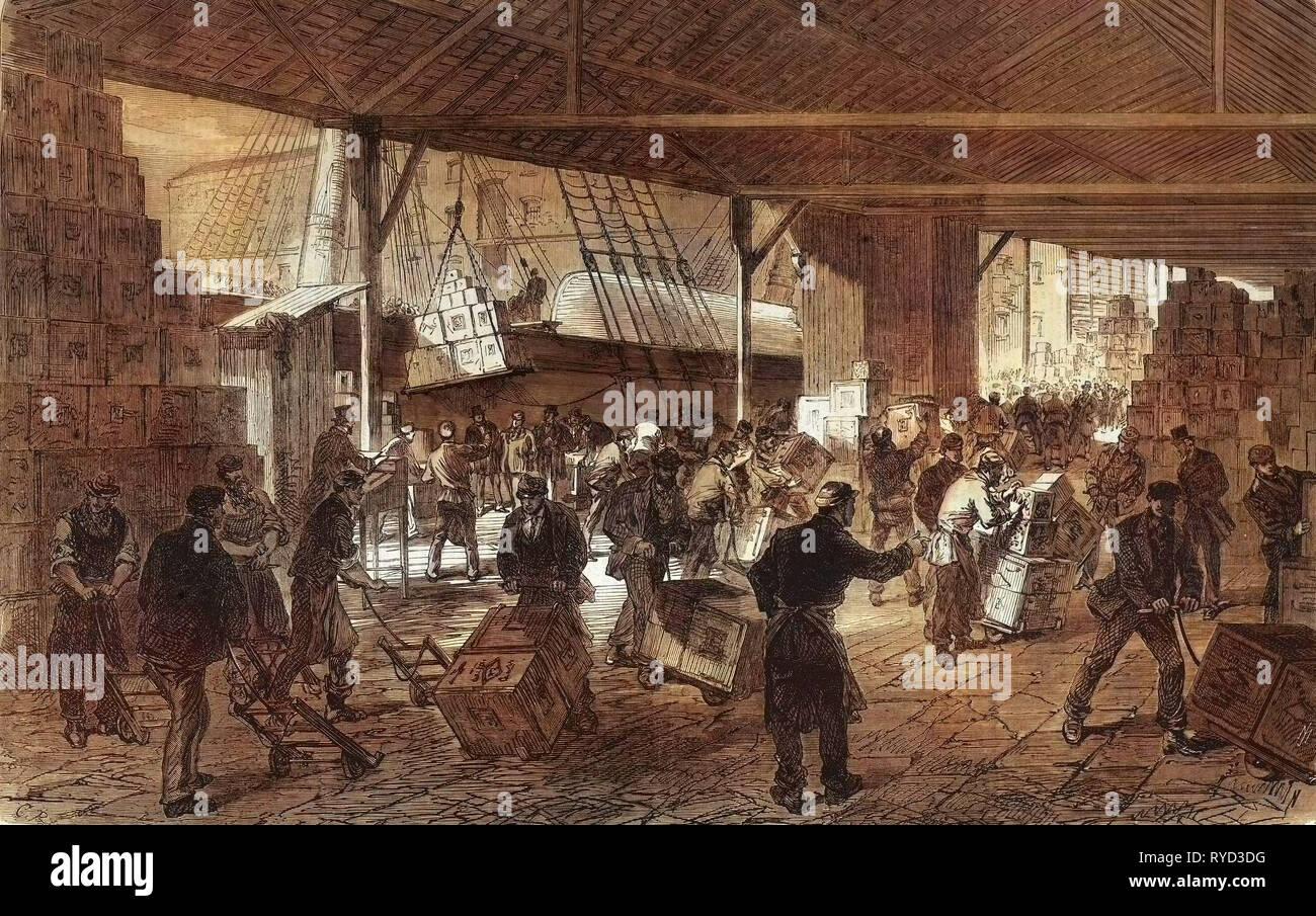 Tea Ships in 1867 - Stock Image