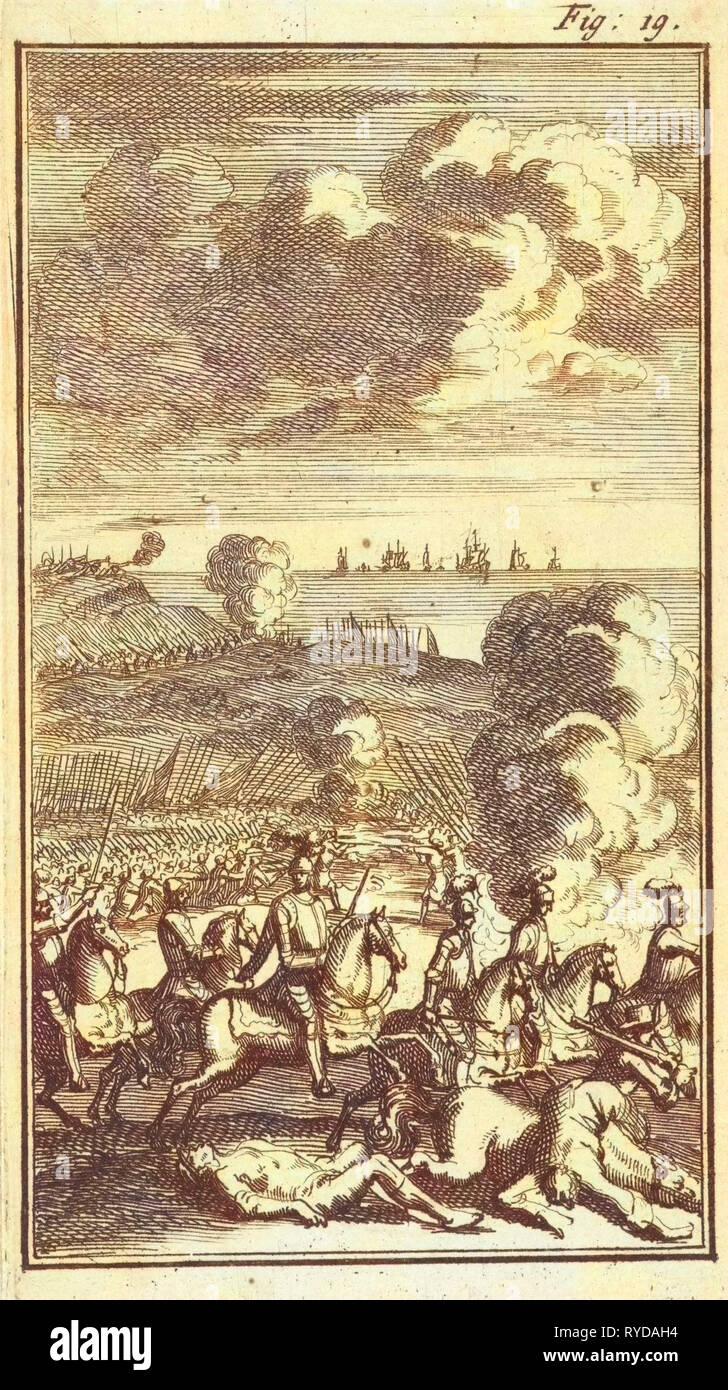 Battle of Nieuwpoort, 1600, Jan Luyken, Barent Beeck, 1691 - Stock Image