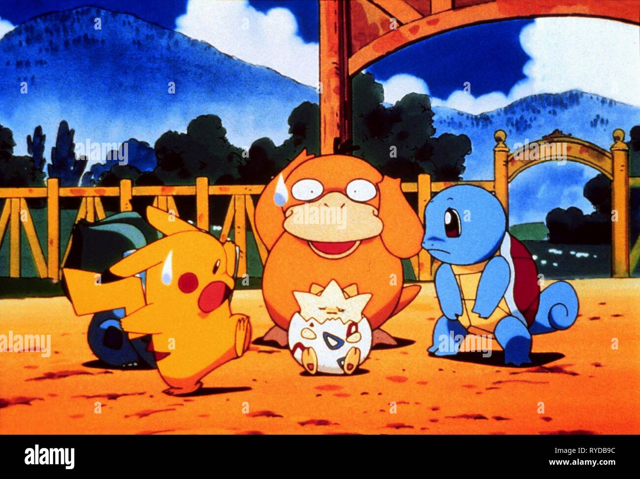 Pikachu Psyduck Togepy Squirtl Pokemon The First Movie