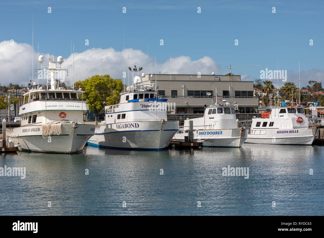 Fishing boats in San Diego - Stock Image