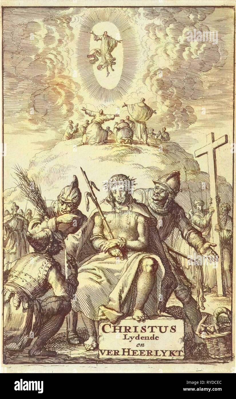 Mocking of Christ, Jan Luyken, Aart Dircksz Oossaan, 1684 - Stock Image