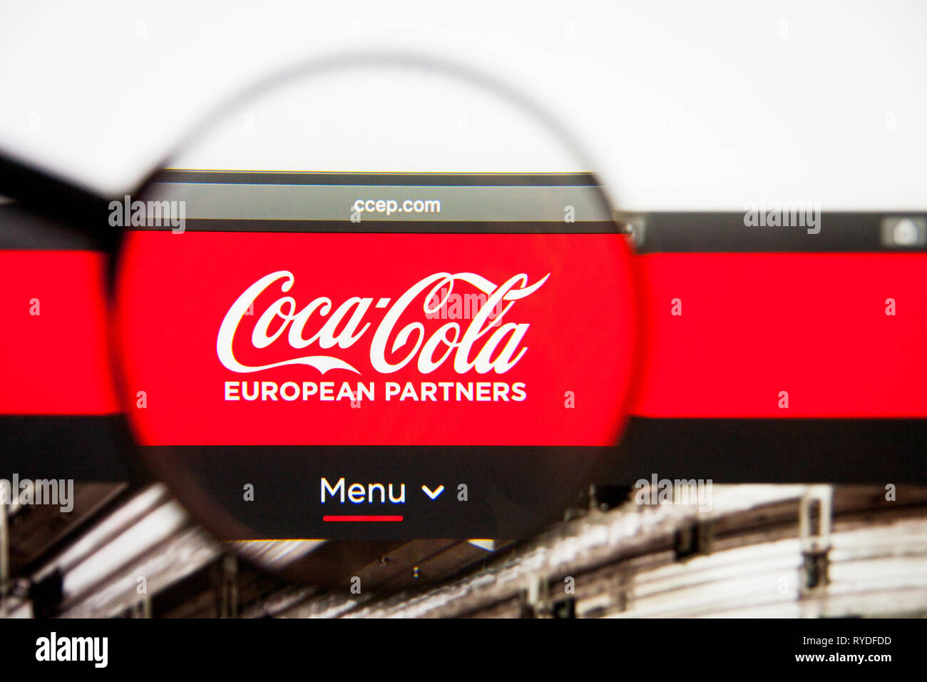 Los Angeles California Usa 28 February 2019 Coca Cola