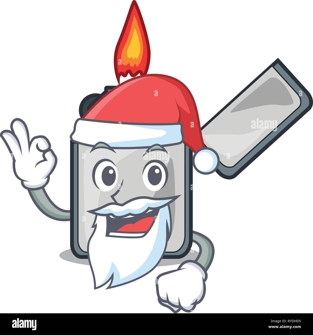 Santa cigarette lighters are placed cartoon bags - Stock Image