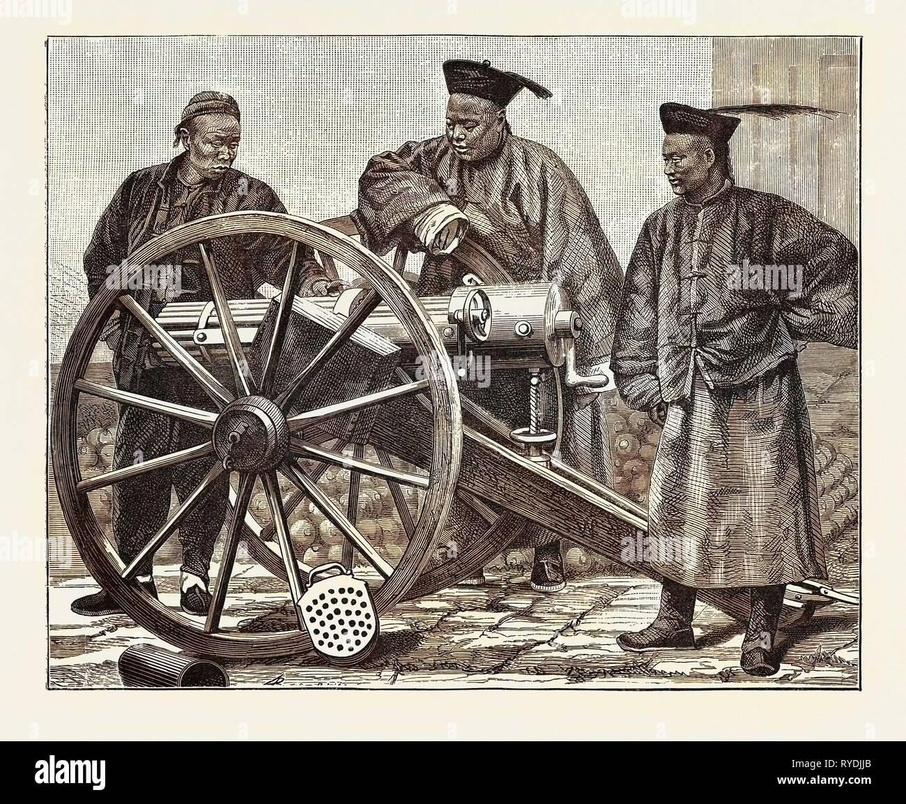 Chinese Artillerymen - Stock Image