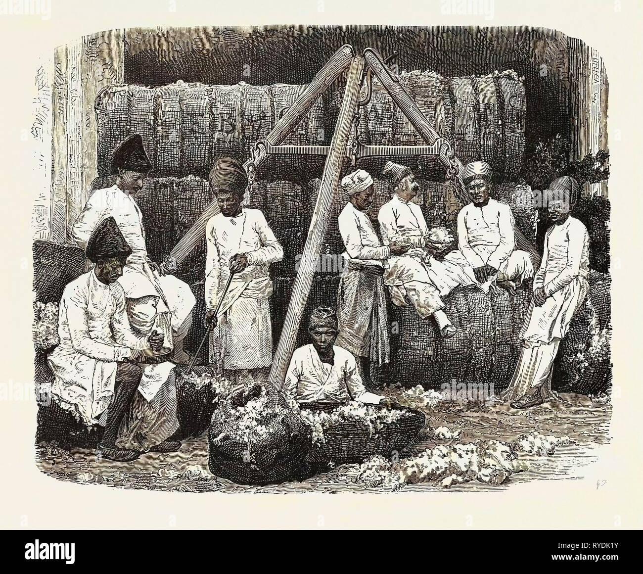 Parsee Cotton Merchants of Bombay, India - Stock Image