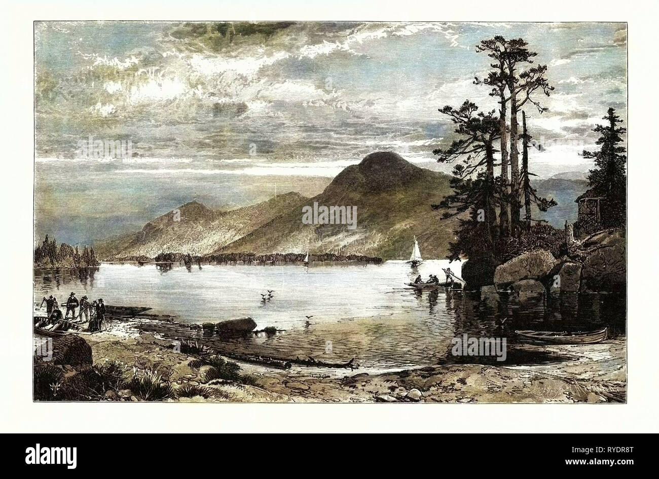 Fourteen-Mile Island, Lake George. USA - Stock Image